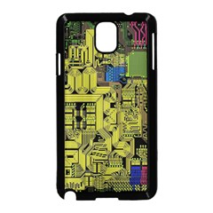 Technology Circuit Board Samsung Galaxy Note 3 Neo Hardshell Case (black) by BangZart