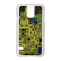 Technology Circuit Board Samsung Galaxy S5 Case (white) by BangZart