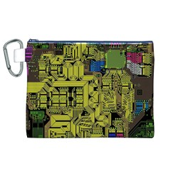 Technology Circuit Board Canvas Cosmetic Bag (xl) by BangZart