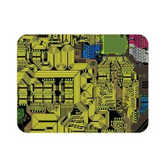 Technology Circuit Board Double Sided Flano Blanket (mini)