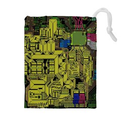 Technology Circuit Board Drawstring Pouches (extra Large)