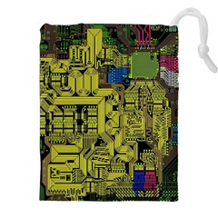 Technology Circuit Board Drawstring Pouches (xxl) by BangZart