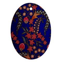 Texture Batik Fabric Ornament (oval)