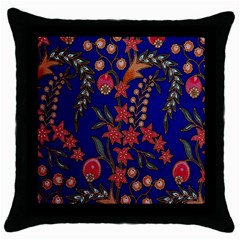 Texture Batik Fabric Throw Pillow Case (black) by BangZart
