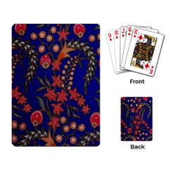 Texture Batik Fabric Playing Card
