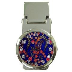 Texture Batik Fabric Money Clip Watches by BangZart
