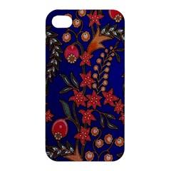 Texture Batik Fabric Apple Iphone 4/4s Hardshell Case by BangZart