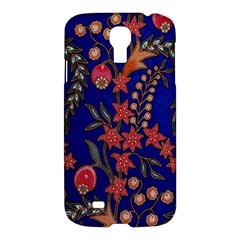 Texture Batik Fabric Samsung Galaxy S4 I9500/i9505 Hardshell Case by BangZart