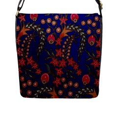 Texture Batik Fabric Flap Messenger Bag (l)  by BangZart