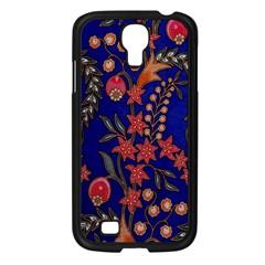 Texture Batik Fabric Samsung Galaxy S4 I9500/ I9505 Case (black) by BangZart