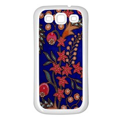 Texture Batik Fabric Samsung Galaxy S3 Back Case (white) by BangZart