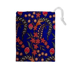 Texture Batik Fabric Drawstring Pouches (large)