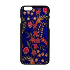 Texture Batik Fabric Apple Iphone 6/6s Black Enamel Case by BangZart