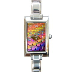 Technology Circuit Pentium Die Rectangle Italian Charm Watch by BangZart