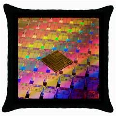 Technology Circuit Pentium Die Throw Pillow Case (black)