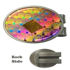Technology Circuit Pentium Die Money Clips (oval)