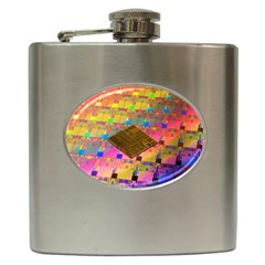 Technology Circuit Pentium Die Hip Flask (6 Oz) by BangZart