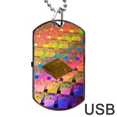 Technology Circuit Pentium Die Dog Tag Usb Flash (two Sides) by BangZart