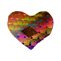Technology Circuit Pentium Die Standard 16  Premium Heart Shape Cushions by BangZart