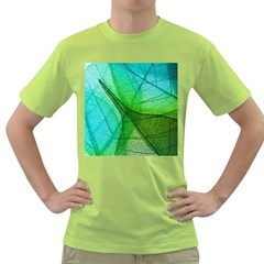 Sunlight Filtering Through Transparent Leaves Green Blue Green T Shirt