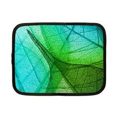 Sunlight Filtering Through Transparent Leaves Green Blue Netbook Case (small)  by BangZart