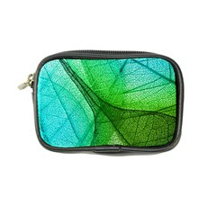 Sunlight Filtering Through Transparent Leaves Green Blue Coin Purse