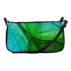 Sunlight Filtering Through Transparent Leaves Green Blue Shoulder Clutch Bags by BangZart