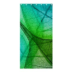 Sunlight Filtering Through Transparent Leaves Green Blue Shower Curtain 36  X 72  (stall)  by BangZart