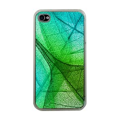 Sunlight Filtering Through Transparent Leaves Green Blue Apple Iphone 4 Case (clear)