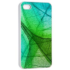 Sunlight Filtering Through Transparent Leaves Green Blue Apple Iphone 4/4s Seamless Case (white) by BangZart