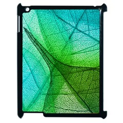 Sunlight Filtering Through Transparent Leaves Green Blue Apple Ipad 2 Case (black) by BangZart