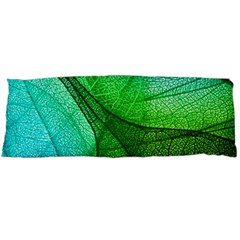 Sunlight Filtering Through Transparent Leaves Green Blue Body Pillow Case Dakimakura (two Sides) by BangZart