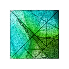 Sunlight Filtering Through Transparent Leaves Green Blue Acrylic Tangram Puzzle (4  X 4 )