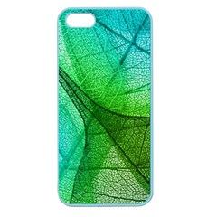 Sunlight Filtering Through Transparent Leaves Green Blue Apple Seamless Iphone 5 Case (color) by BangZart