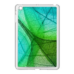 Sunlight Filtering Through Transparent Leaves Green Blue Apple Ipad Mini Case (white) by BangZart
