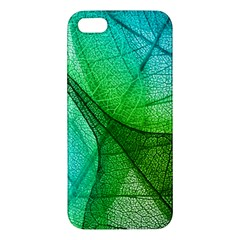 Sunlight Filtering Through Transparent Leaves Green Blue Apple Iphone 5 Premium Hardshell Case