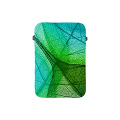 Sunlight Filtering Through Transparent Leaves Green Blue Apple Ipad Mini Protective Soft Cases by BangZart