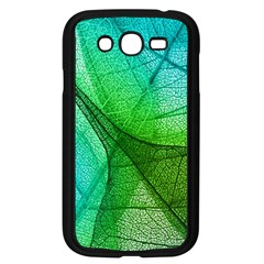 Sunlight Filtering Through Transparent Leaves Green Blue Samsung Galaxy Grand Duos I9082 Case (black) by BangZart