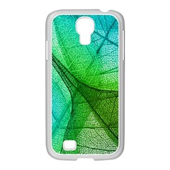 Sunlight Filtering Through Transparent Leaves Green Blue Samsung Galaxy S4 I9500/ I9505 Case (white)