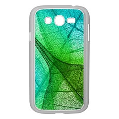 Sunlight Filtering Through Transparent Leaves Green Blue Samsung Galaxy Grand Duos I9082 Case (white)