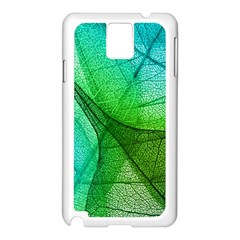 Sunlight Filtering Through Transparent Leaves Green Blue Samsung Galaxy Note 3 N9005 Case (white)