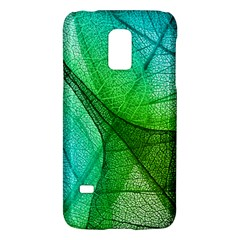 Sunlight Filtering Through Transparent Leaves Green Blue Galaxy S5 Mini by BangZart