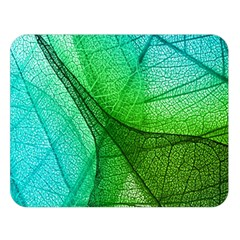 Sunlight Filtering Through Transparent Leaves Green Blue Double Sided Flano Blanket (large)  by BangZart
