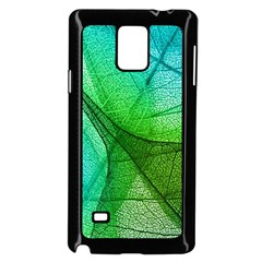 Sunlight Filtering Through Transparent Leaves Green Blue Samsung Galaxy Note 4 Case (black)