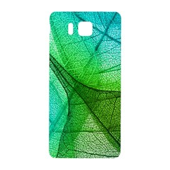 Sunlight Filtering Through Transparent Leaves Green Blue Samsung Galaxy Alpha Hardshell Back Case by BangZart
