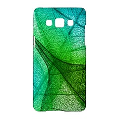 Sunlight Filtering Through Transparent Leaves Green Blue Samsung Galaxy A5 Hardshell Case  by BangZart