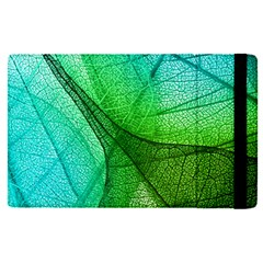 Sunlight Filtering Through Transparent Leaves Green Blue Apple Ipad Pro 9 7   Flip Case