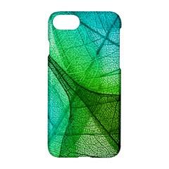 Sunlight Filtering Through Transparent Leaves Green Blue Apple Iphone 7 Hardshell Case