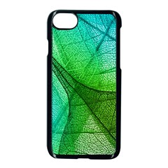 Sunlight Filtering Through Transparent Leaves Green Blue Apple Iphone 7 Seamless Case (black) by BangZart