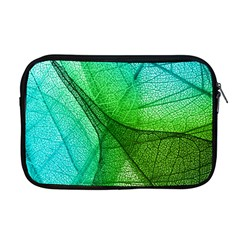 Sunlight Filtering Through Transparent Leaves Green Blue Apple Macbook Pro 17  Zipper Case
